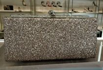 Jimmy Choo Chain Plain Party Style Clutches