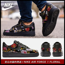 Nike AIR FORCE 1 Flower Patterns Casual Style Street Style Low-Top Sneakers