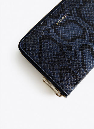 Leather Python Folding Wallets