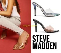 Steve Madden Casual Style Blended Fabrics Plain Pin Heels PVC Clothing