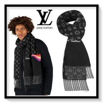 Louis Vuitton Unisex Cashmere Bi-color Scarves