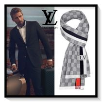 Louis Vuitton Other Check Patterns Unisex Wool Scarves