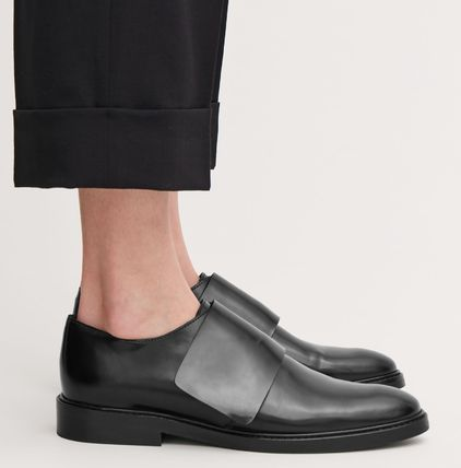 Casual Style Plain Loafer Pumps & Mules