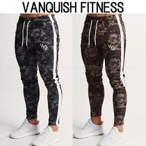 VANQUISH FITNESS Printed Pants Camouflage Street Style Patterned Pants
