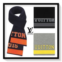 Louis Vuitton Unisex Wool Blended Fabrics Bi-color Scarves