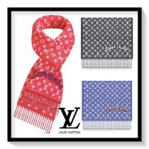 Louis Vuitton Unisex Wool Bi-color Scarves