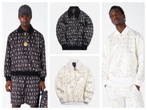 VERSACE Pullovers Monogram Nylon Collaboration Long Sleeves Tops