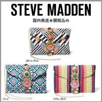 Steve Madden 2WAY Chain Party Style With Jewels Clutches