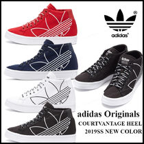 adidas Wedge Plain Toe Casual Style Street Style Plain