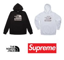 Supreme Pullovers Street Style Collaboration Long Sleeves Plain