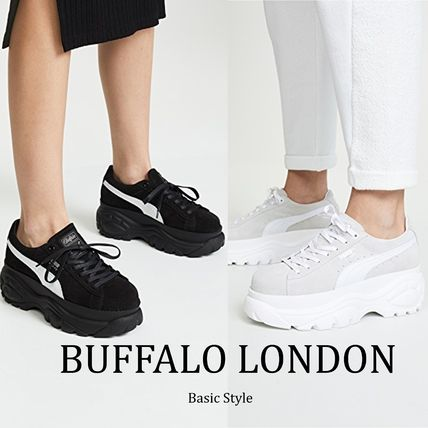 Rubber Sole Casual Style Street Style Plain Leather