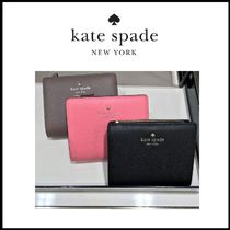 kate spade new york Plain Leather Folding Wallets