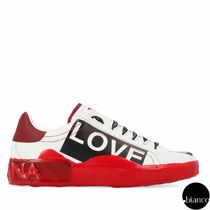 Dolce & Gabbana Heart Leather Sneakers
