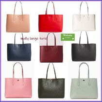 kate spade new york KATE SPADE MOLLY A4 Plain Leather Totes