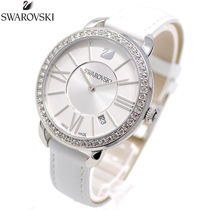 SWAROVSKI Leather Quartz Watches Analog Watches