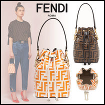 FENDI MON TRESOR 2WAY Leather Elegant Style Handbags