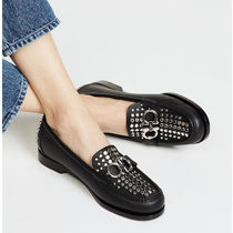 Salvatore Ferragamo Studded Loafer Pumps & Mules