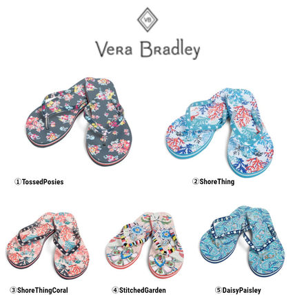Paisley Tropical Patterns Platform Casual Style Flip Flops