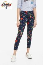 Desigual Flower Patterns Casual Style Skinny Pants