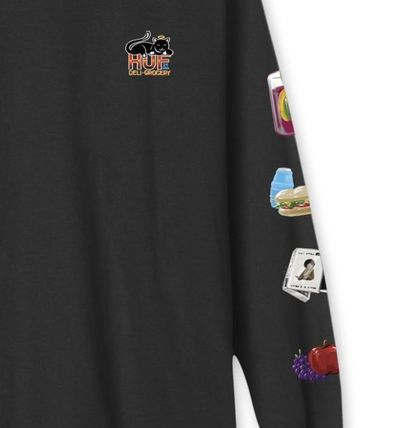 HUF Long Sleeve Street Style Long Sleeves Logos on the Sleeves 2