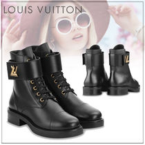Louis Vuitton Rubber Sole Street Style Plain Leather Ankle & Booties Boots