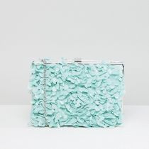 Chi Chi London Flower Patterns 2WAY Chain Plain Party Style Clutches