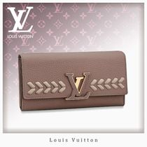 Louis Vuitton CAPUCINES Blended Fabrics Leather Long Wallets
