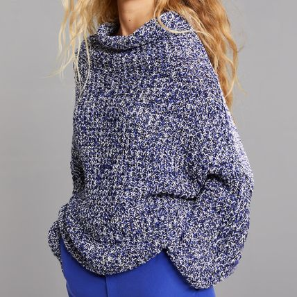 Long Sleeves Plain Cotton Oversized Sweaters
