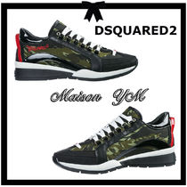 D SQUARED2 Camouflage Leather Sneakers
