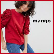 MANGO Casual Style Puffed Sleeves Tops