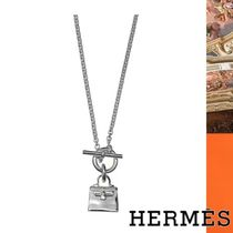 HERMES Kelly Chain Silver Elegant Style Necklaces & Pendants