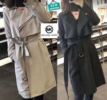 Michael Kors Casual Style Plain Long Trench Coats