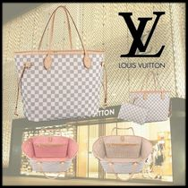 Louis Vuitton NEVERFULL Other Check Patterns Canvas Blended Fabrics A4 2WAY Bi-color