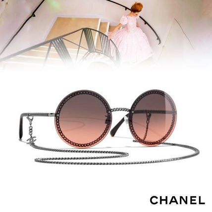 c5c969ea77 CHANEL Sunglasses Chain Round Sunglasses 7 CHANEL Sunglasses Chain Round  Sunglasses ...