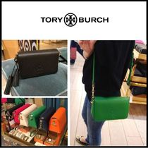 Tory Burch Plain Leather Shoulder Bags