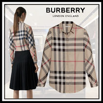 Burberry Monogram Long Sleeves Cotton Shirts & Blouses