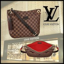 Louis Vuitton DAMIER Other Check Patterns Casual Style Canvas Tassel 2WAY