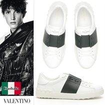 VALENTINO Bi-color Leather Sneakers