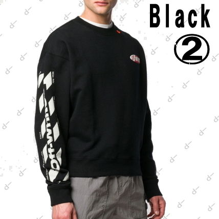 Off-White Sweatshirts Crew Neck Unisex Street Style Long Sleeves Cotton 6