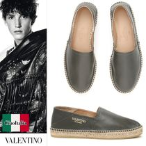 VALENTINO Leather Loafers & Slip-ons