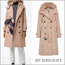 Burberry Other Check Patterns Plain Medium Trench Coats