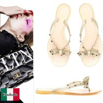 VALENTINO Studded Shower Shoes PVC Clothing Flat Sandals