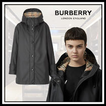 Burberry Other Check Patterns Casual Style Coats