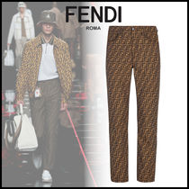 FENDI Monogram Denim Street Style Jeans & Denim