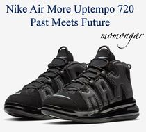Nike AIR MORE UPTEMPO Blended Fabrics Street Style Sneakers