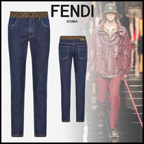 FENDI Denim Street Style Skinny Fit Jeans & Denim