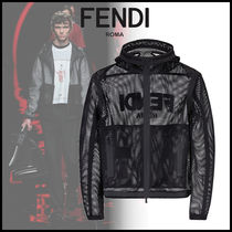 FENDI BAG BUGS Street Style Plain Long Jackets