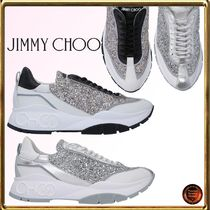 Jimmy Choo Round Toe Rubber Sole Lace-up Casual Style Leather