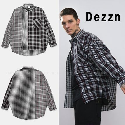 Dezzn Shirts Button-down Gingham Other Check Patterns Street Style
