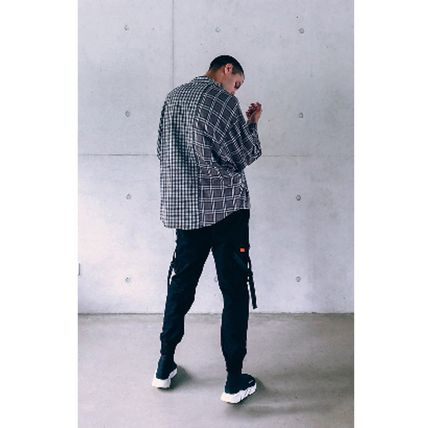 Dezzn Shirts Button-down Gingham Other Check Patterns Street Style 3